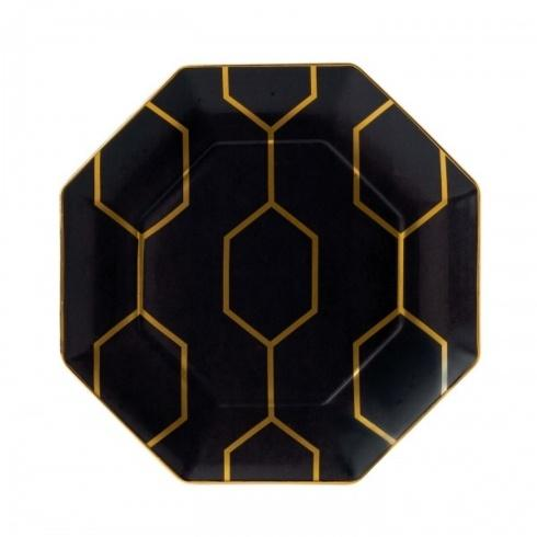 """$65.00 Accent Plate Octagonal Charcoal 9.1"""""""