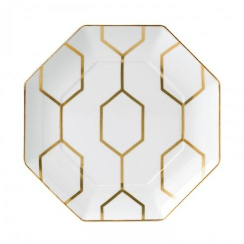 $65.00 Accent Plate Octagonal White 9.1""