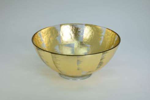 $138.00 10x4 footed bubble glass bowl