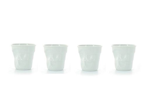 $70.00 Set of 4 Cappuccino Crumpled Tumblers