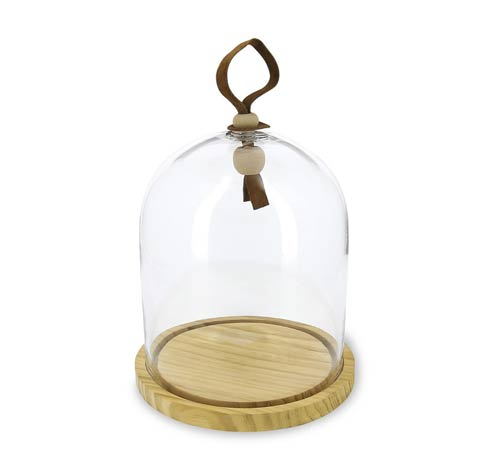 $69.99 Glass Cloche Ø7.75 With Base